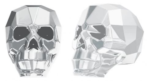 5750 Skull Beads, Light Chrome 2X (2X: Effect on both sides)
